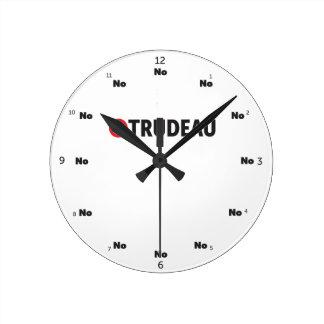 Relógio Redondo Pare o liberal de Justin Trudeau Canadá nenhuma