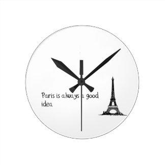 Relógio Redondo Paris é sempre uma boa ideia