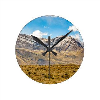 Relógio Redondo Patagonia nevado Argentina das montanhas de Andes