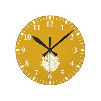 Relógio Redondo paulownia Borboleta-dado forma