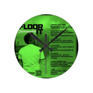 Relógio Redondo Pavimente-o reverso dos Instrumentals