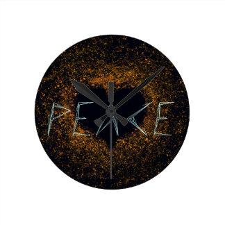 Relógio Redondo paz-amor