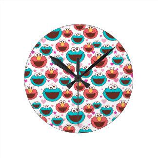 Relógio Redondo Paz de Elmo & de monstro | do biscoito & teste
