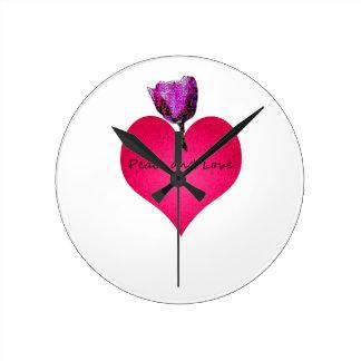 Relógio Redondo paz e amor