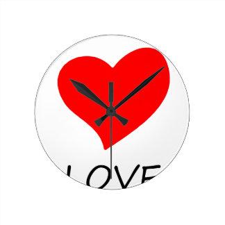 Relógio Redondo paz love26