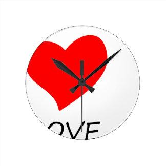 Relógio Redondo paz love38