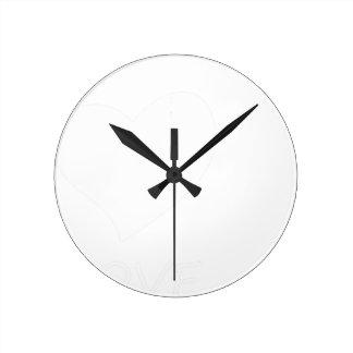 Relógio Redondo paz love9