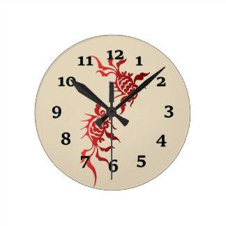 Relógio Redondo Peixes de Koi