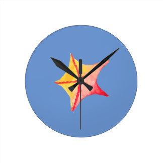 Relógio Redondo Peixes geométricos