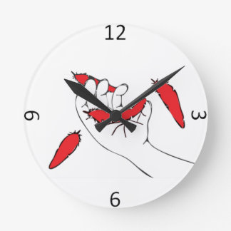 Relógio Redondo Penas de queda