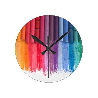 Relógio Redondo pense na cor