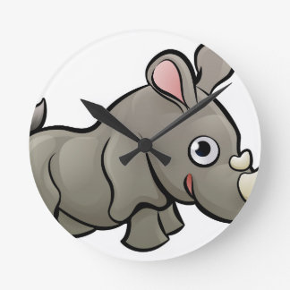Relógio Redondo Personagem de desenho animado dos animais do