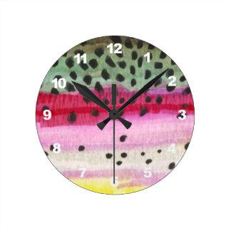 Relógio Redondo Pesca com mosca da truta