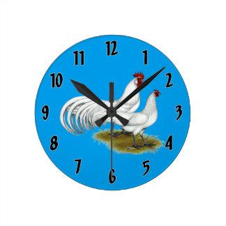 Relógio Redondo Phoenix:  Pares brancos