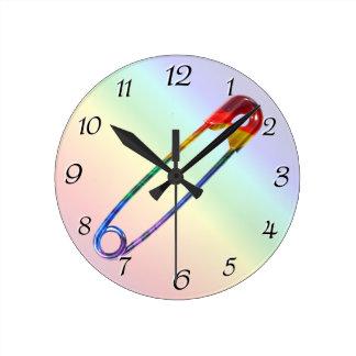 Relógio Redondo Pin de segurança