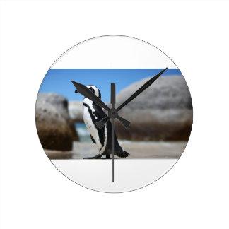 Relógio Redondo Pinguim africano