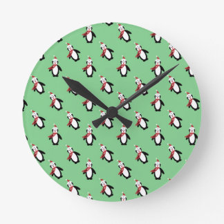 Relógio Redondo Pinguim do Natal