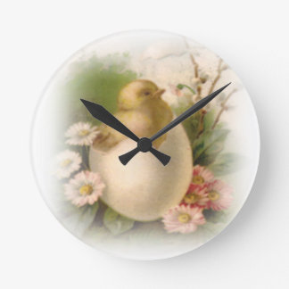 Relógio Redondo Pintinho novo da páscoa