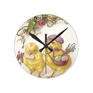 Relógio Redondo Pintinhos da páscoa da entrega especial