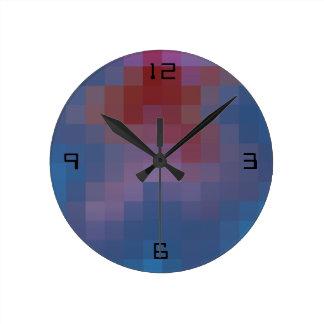 Relógio Redondo Pixelated com números