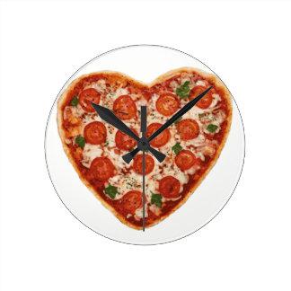 Relógio Redondo pizza dada forma coração