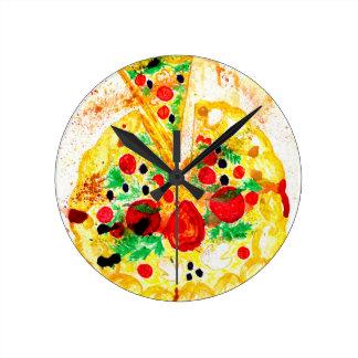 Relógio Redondo Pizza saboroso