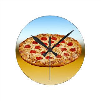 Relógio Redondo Pizza solitária - multi produtos