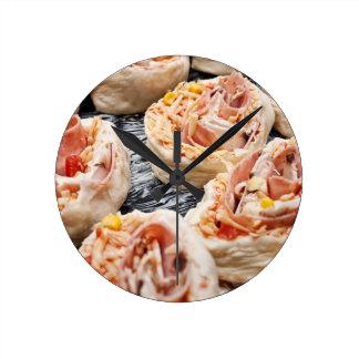 Relógio Redondo Pizzette do cozimento