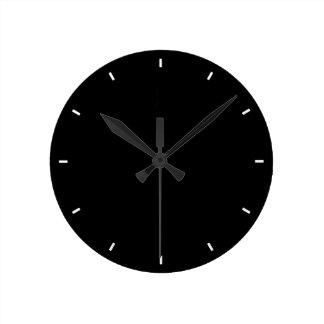 Relógio Redondo Planície e pulso de disparo de parede preto