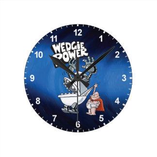 Relógio Redondo Poder do capitão Cuecas | Wedgie