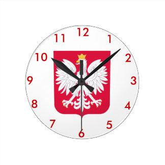 Relógio Redondo Polish* Coat of Arms Wallclock