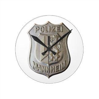 Relógio Redondo Polizei Mannheim
