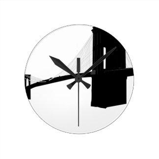 Relógio Redondo Ponte de Brooklyn