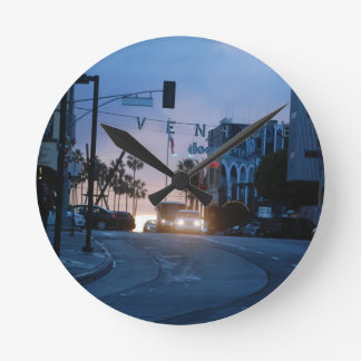 Relógio Redondo por do sol de Veneza