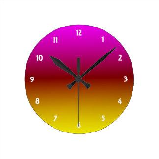 Relógio Redondo Por do sol Ombre