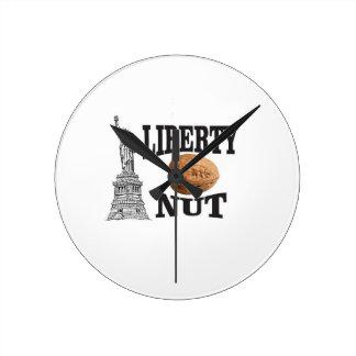 Relógio Redondo porca da liberdade