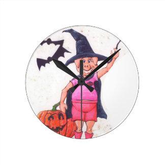 Relógio Redondo Porco da bruxa