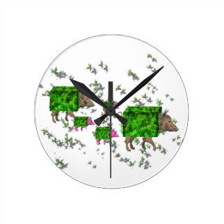 Relógio Redondo porcos britânicos da conversão
