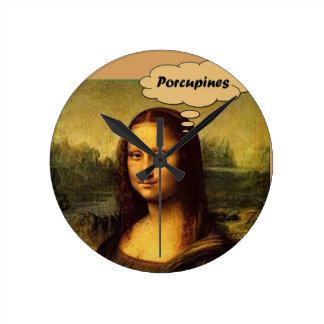 Relógio Redondo Porcos- de Mona Lisa