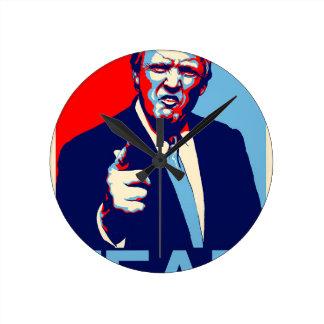 """Relógio Redondo Poster 2017 da paródia do """"medo"""" de Donald Trump"""