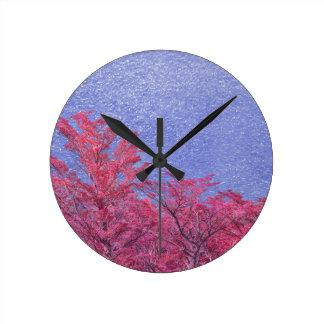 Relógio Redondo Poster do tema da paisagem da fantasia