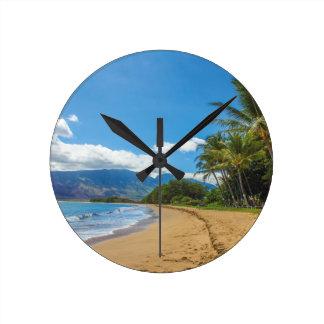 Relógio Redondo Praia em Havaí