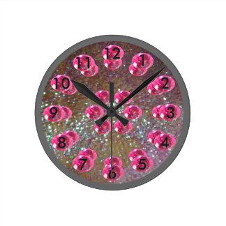 Relógio Redondo Prata mágica da princesa Feminino Cor-de-rosa Jóia