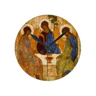 Relógio Redondo Presente católico bizantino de Rublev do ícone da