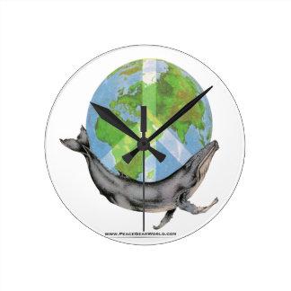 Relógio Redondo Projeto da paz da baleia de Humpback