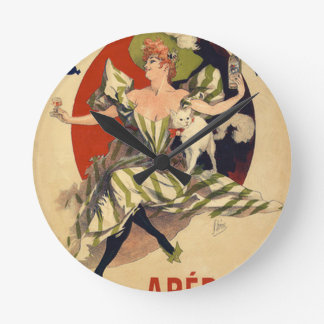 Relógio Redondo Propaganda do francês do vintage
