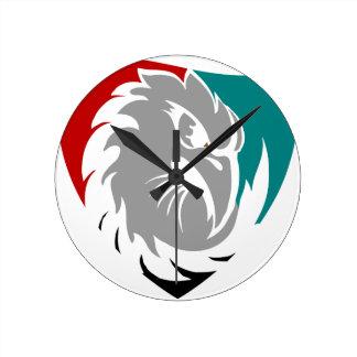 Relógio Redondo Protetor da protecção de segurança do falcão