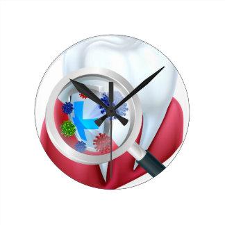 Relógio Redondo Protetor do dente da proteção