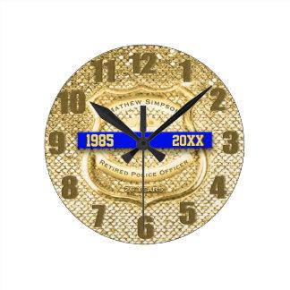 Relógio Redondo Pulso de disparo aposentado do prêmio da polícia