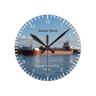 Relógio Redondo Pulso de disparo atlântico de Huron